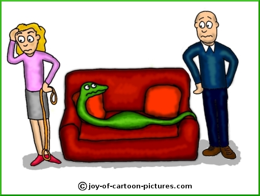 pet snake cartoon